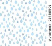 rain doodles and hearts... | Shutterstock .eps vector #259585901