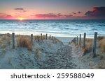 Sand Path To North Sea Beach...