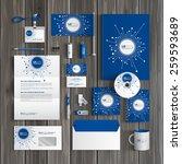 blue digital corporate identity ... | Shutterstock .eps vector #259593689