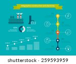 flat design vector concept... | Shutterstock .eps vector #259593959