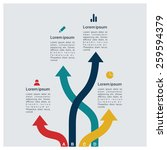 different way infographics  ... | Shutterstock .eps vector #259594379