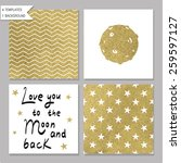 Collection Of 4 Card Templates. ...