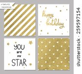 collection of 4 card templates. ... | Shutterstock .eps vector #259597154