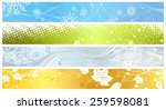 set of banners of four seasons. ... | Shutterstock .eps vector #259598081
