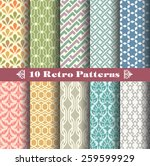 seamless patterns with vintage... | Shutterstock .eps vector #259599929