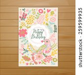 Sweet Happy Birthday Card In...