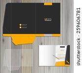 black classic folder template... | Shutterstock .eps vector #259606781