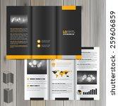 black classic brochure template ... | Shutterstock .eps vector #259606859