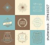 vector set of outline design... | Shutterstock .eps vector #259610327