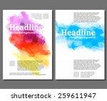 flyer  brochure design... | Shutterstock .eps vector #259611947