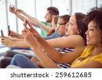 fashion students taking a... | Shutterstock . vector #259612685