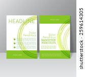 vector brochure template design ... | Shutterstock .eps vector #259614305