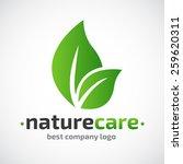 abstract  care vector logo  eco ... | Shutterstock .eps vector #259620311
