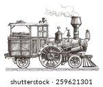 steam locomotive vector logo... | Shutterstock .eps vector #259621301