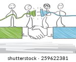 group of business people... | Shutterstock .eps vector #259622381