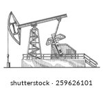 oil rocking vector logo design... | Shutterstock .eps vector #259626101