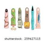 various fingers vector  vector... | Shutterstock .eps vector #259627115