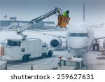 Air Plane In Winter Weather At...