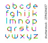 bright alphabet. vector. | Shutterstock .eps vector #259634657