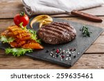 Burger Grill With Vegetables...