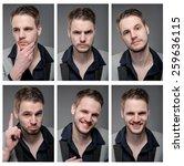 collage of elegant man in smart ... | Shutterstock . vector #259636115