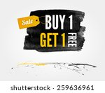 vector half price sale... | Shutterstock .eps vector #259636961