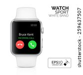 Smart Watch With White Band...