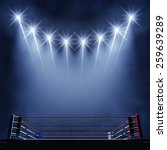 boxing ring and floodlights  ... | Shutterstock . vector #259639289