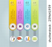 business infographic template.... | Shutterstock .eps vector #259641959