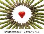 Many Green Asparagus Spears...