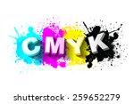 3d Cmyk Letters With Paint...
