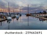olympia marina. olympia  wa usa ... | Shutterstock . vector #259663691