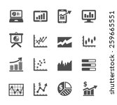 infographic and chart icon set...