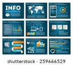 big set of infographics... | Shutterstock .eps vector #259666529