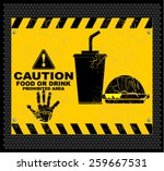 caution with food or drink... | Shutterstock .eps vector #259667531