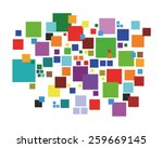 coloured squares pattern