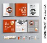 classic white brochure template ... | Shutterstock .eps vector #259669865