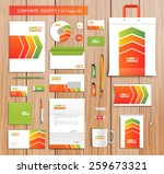 white corporate id template... | Shutterstock .eps vector #259673321