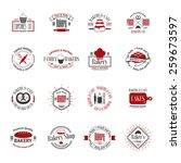vintage bakery badges  labels... | Shutterstock .eps vector #259673597