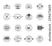 vintage bakery badges  labels...   Shutterstock .eps vector #259673609
