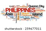 philippines tag cloud... | Shutterstock . vector #259677011