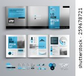 classic brochure template... | Shutterstock .eps vector #259678721