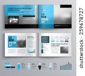classic brochure template...   Shutterstock .eps vector #259678727