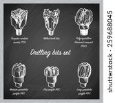 different types of drill bits...