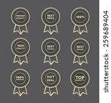 a set of hollow golden seller's ... | Shutterstock .eps vector #259689404