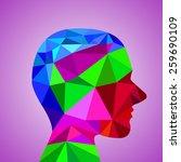human head from 3d geometric... | Shutterstock .eps vector #259690109