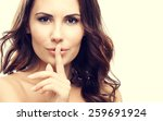 portrait of young woman with... | Shutterstock . vector #259691924