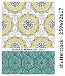 set of seamless patterns with... | Shutterstock .eps vector #259692617
