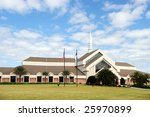 A Large  Modern Church Under A...