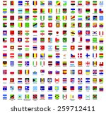 flags vector of the world | Shutterstock .eps vector #259712411